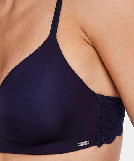 Hope Padded Non-Underwired Bra, Blue