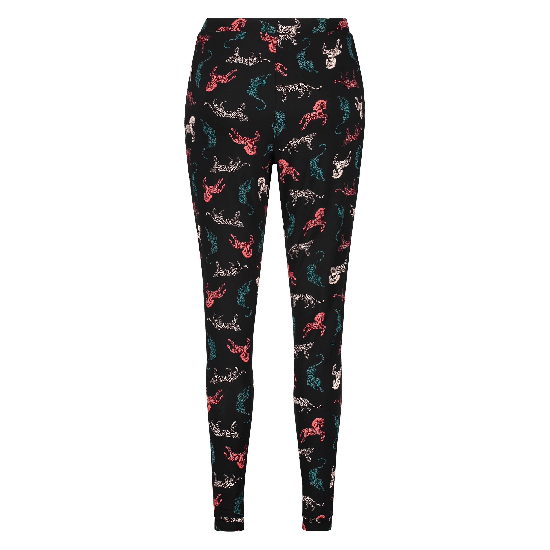 Jersey pyjama pants, Black, main