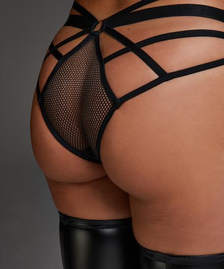 Sting Open Crotch Brazilian, Black