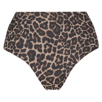 Brazilian high leg Leopard bikini bottoms, Beige