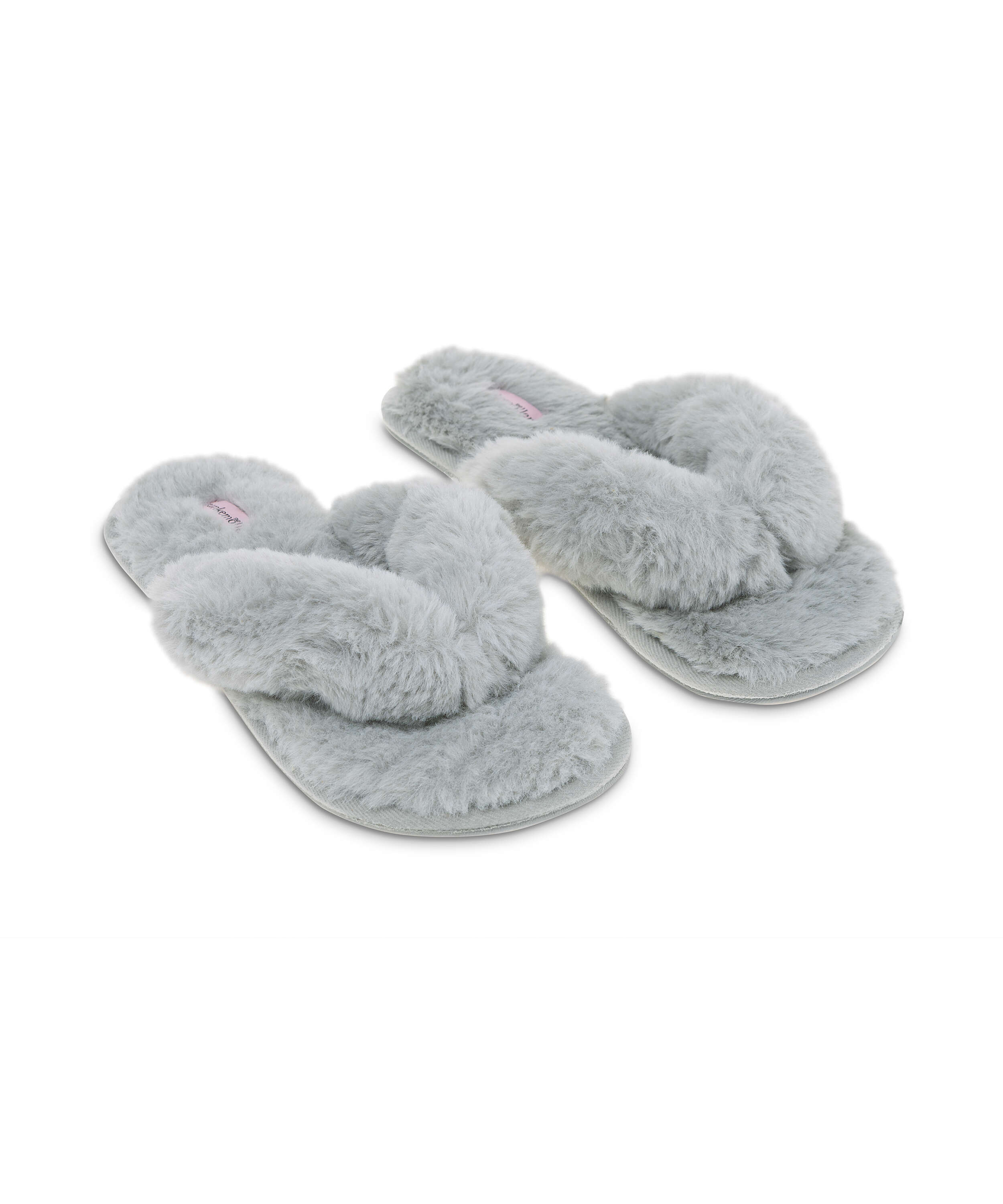 Fake Fur Slippers, Grey, main
