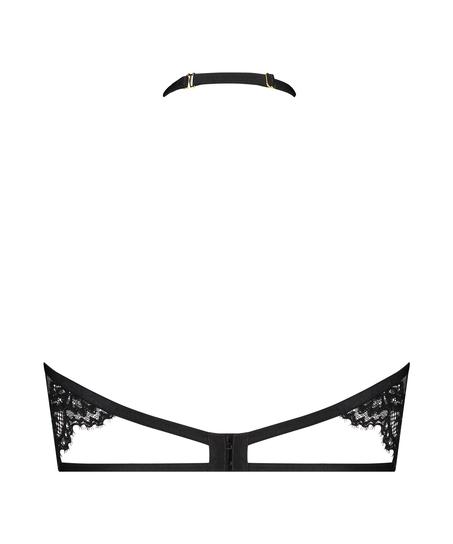 Eve Non-Padded Underwired Bra halter neck, Black