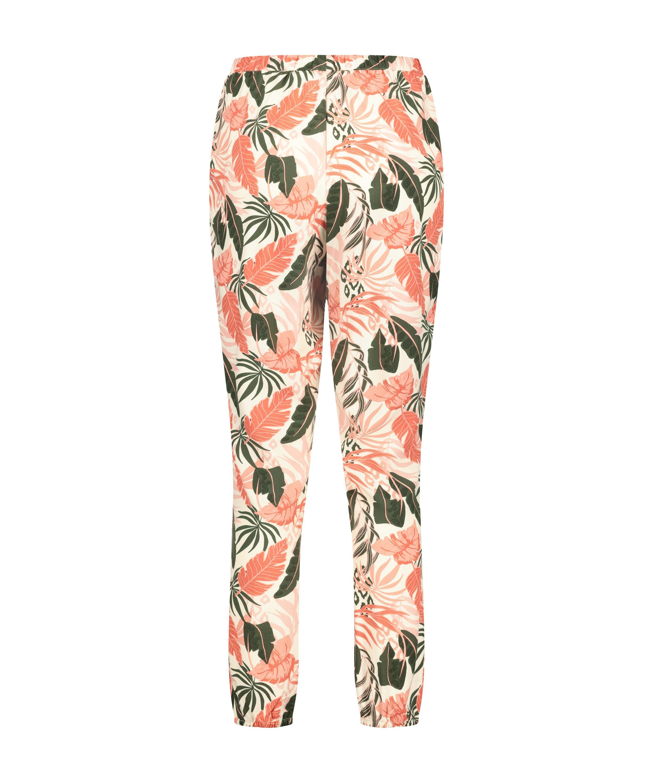 Tall Woven pyjama bottoms, Beige, main
