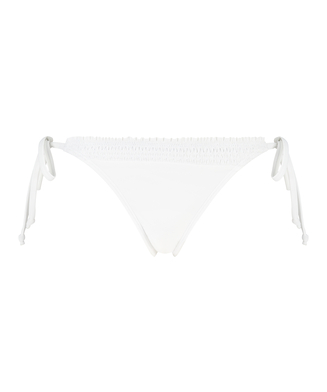 Maldives Brazilian tanga bikini bottoms, White