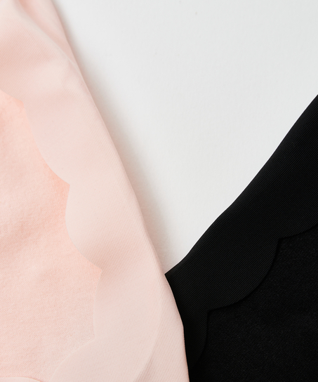 2 pairs Lasercut Footsies, Pink