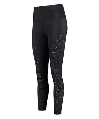 HKMX High waisted cropped sports leggings Naira, Black