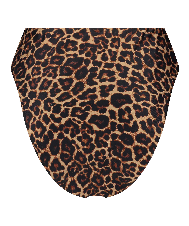 Animal high-cut Brazilian bikini bottoms HKM x NA-KD, Brown, main