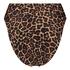 Animal high-cut Brazilian bikini bottoms HKM x NA-KD, Brown