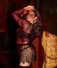 Lace Skirt, Black