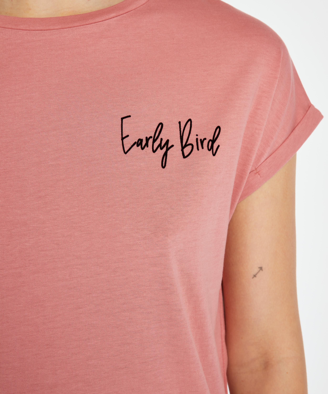 Round Neck Nightshirt, Pink, main