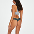 Lace Back Invisible Thong, Blue
