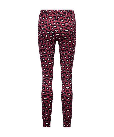 Velvet leggings, Red