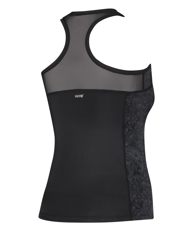 HKMX Sport slim fit tank top, Black, main