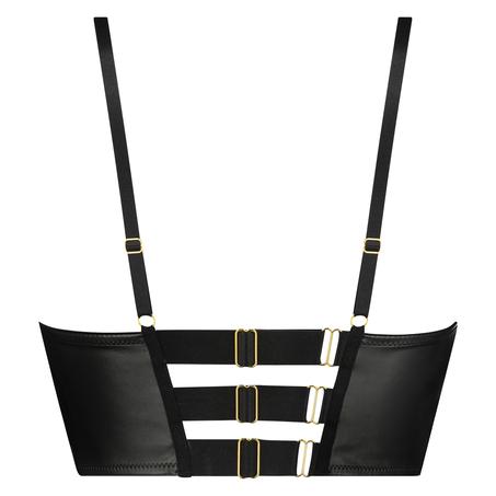 Talia Padded Longline Underwired Bra Cup E +, Black