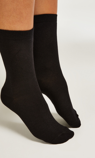 2 Pairs Cotton Socks, Beige