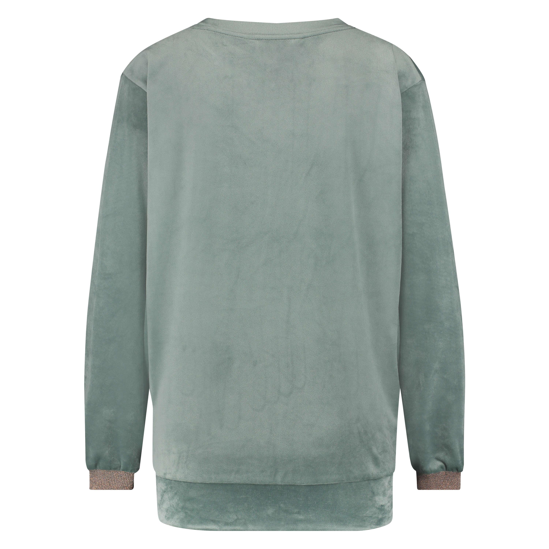 Lurex velours top, Green, main