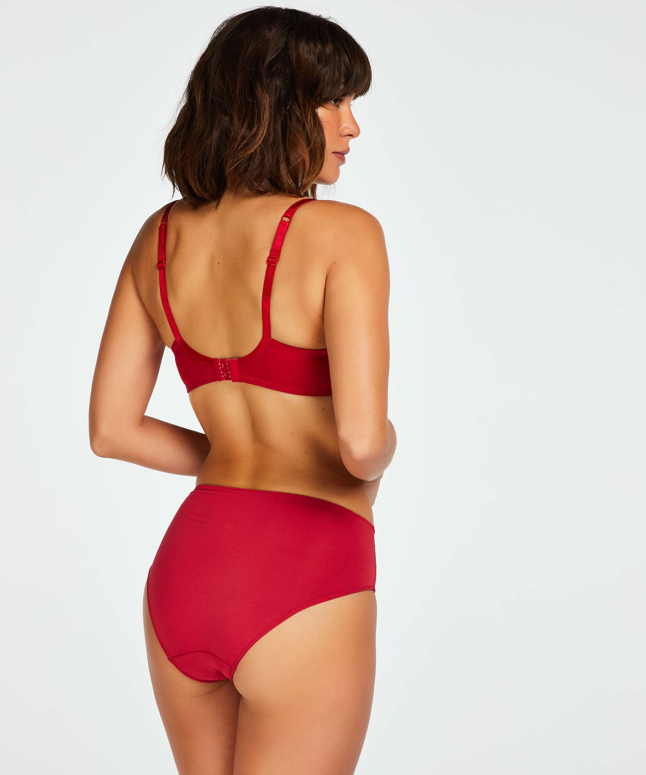 Sophie Non-Padded Underwired Bra, Red, main