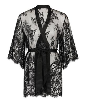 Isabelle Lace Kimono, Black