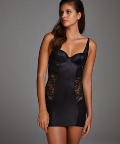Hannah Underwired Slip Dress, Black