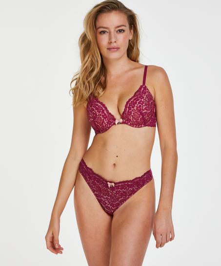 Rose padded push-up bra, Purple