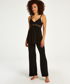 Vera Lace Pyjama Set, Black
