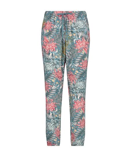 Tall Woven pyjama bottoms, Green