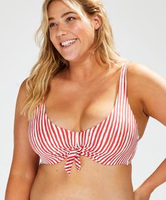 Julia non-padded underwired bikini top, Red