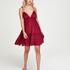 Tiered beach dress, Red