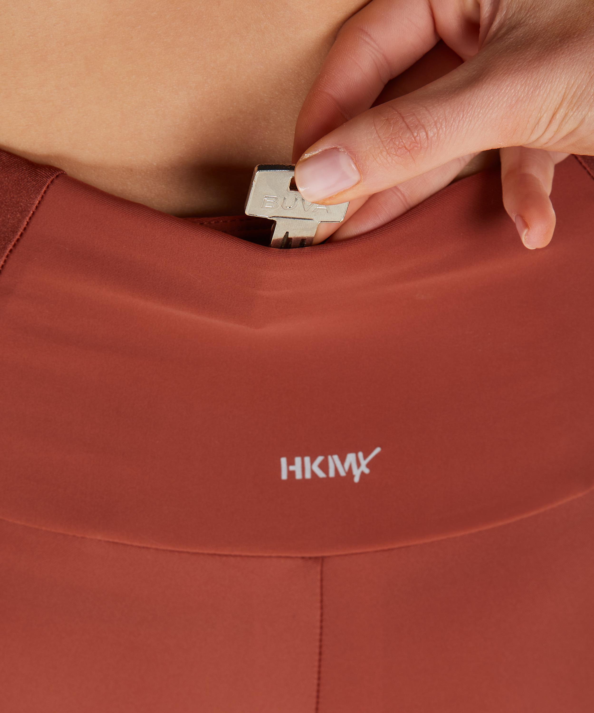 HKMX High waisted sports leggings Shine On, Red, main