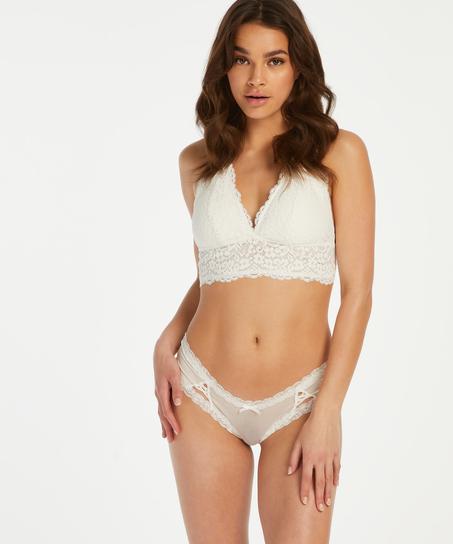 Kyla V-Shaped Brazilian, White