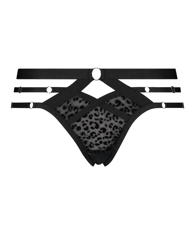 Jagger Brazilian with open crotch, Black, main