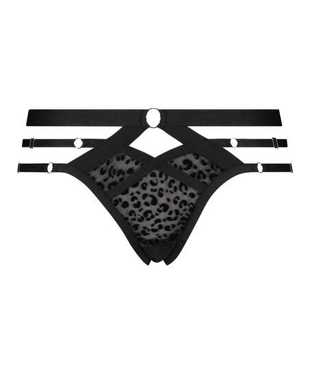 Jagger Brazilian with open crotch, Black