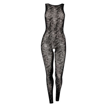 Tights Private Catsuit with open crotch, Black