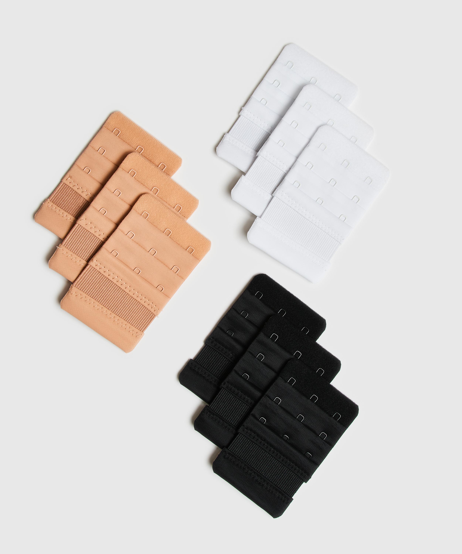 Bra Extender 3 Hooks, White, main