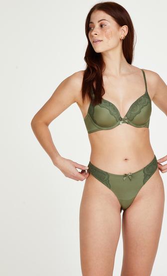 Gina Padded underwired bra, Green