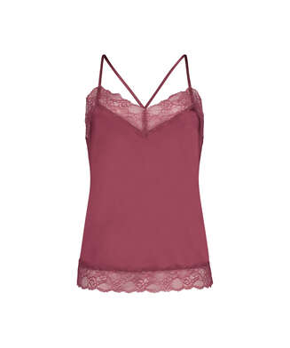 Satin Lace cami top, Red