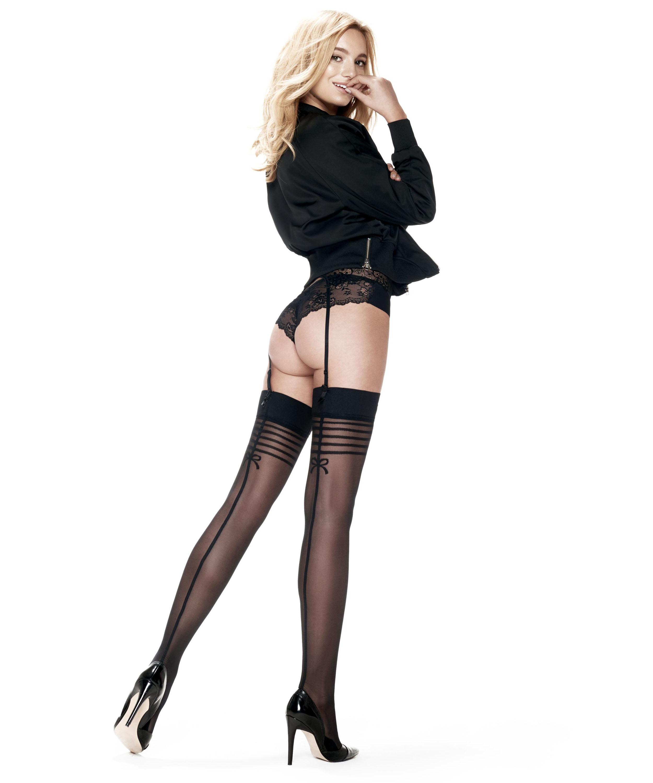 Delicate Lines 30 Denier Stockings, Black, main