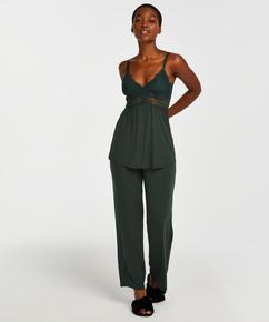 Vera Lace Pyjama Set, Green