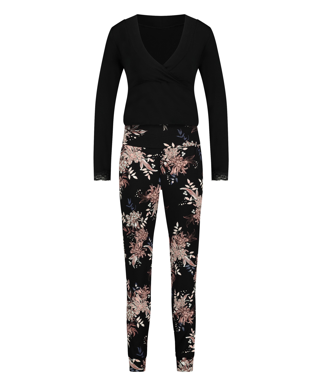 Nursing pyjama set , Black, main