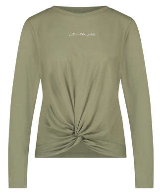 Long sleeve top Jersey Knot, Green