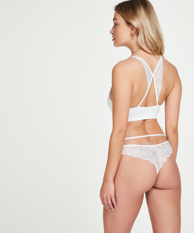 Melanie Seamless Bralette, White, main