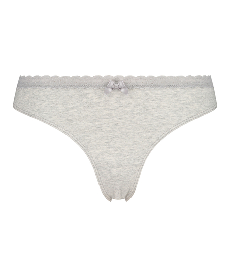 Cotton thong, Grey