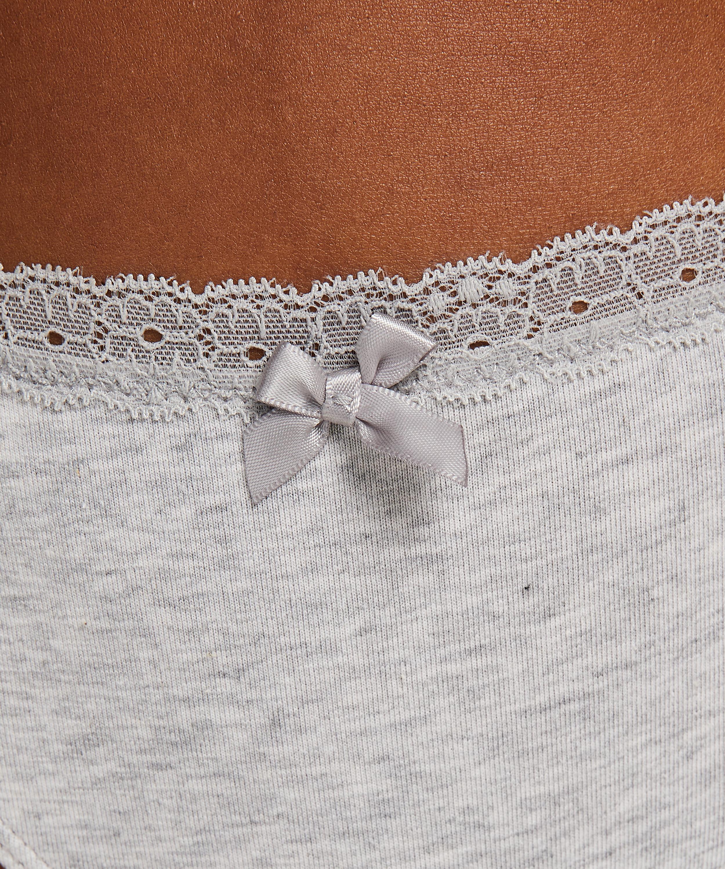 Cotton thong, Grey, main