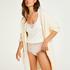 Premium Fluffy Long Vest, White