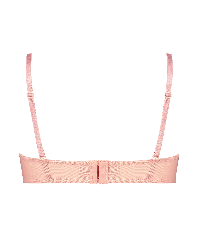 Kelly padded underwired longline strapless bra, Pink, main