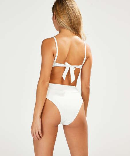 Emily bandeau bikini top, White