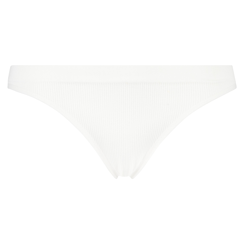 Seamless high leg brazilian, White, main