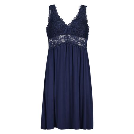 Nora Lace Slip Dress, Blue
