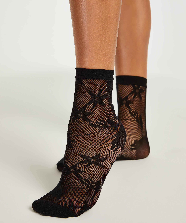 1 pair of Fashion socks, Black, main