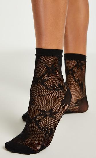 1 pair of Fashion socks, Black
